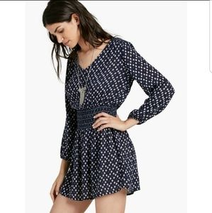 LUCKY BRAND Navy Long Sleeve Dress